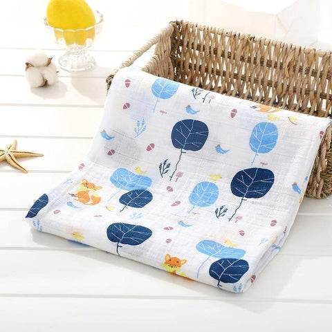 Baby Organic Muslin Wrap - Trees - Our Baby Nursery