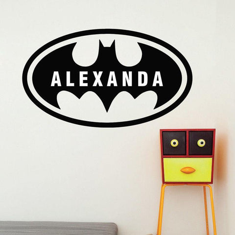 Batman Custom Name Wall Decal - Our Baby Nursery