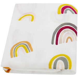 Bright Rainbow Muslin Swaddle - Our Baby Nursery