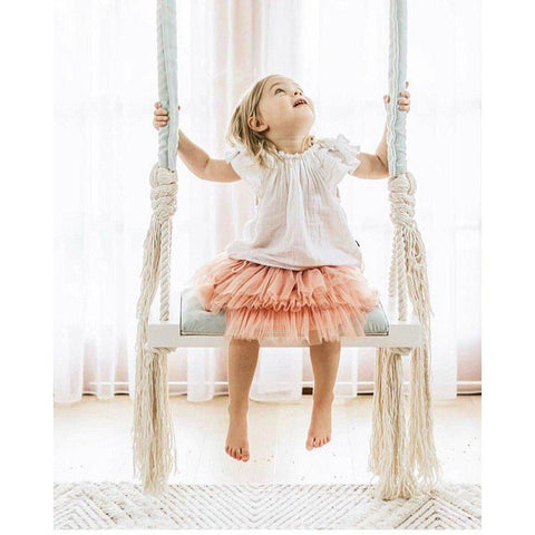 Children's Hanging Wooden Swing - Our Baby Nursery