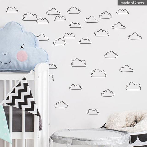 Clouds Nordic Style Decal - Our Baby Nursery