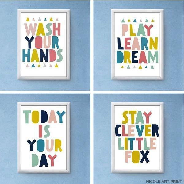 Colourful Motivational Quotes Wall Art - Our Baby Nursery