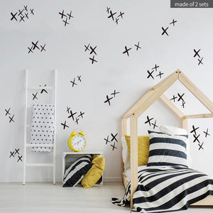 Crosses Nordic Style Decal - Our Baby Nursery