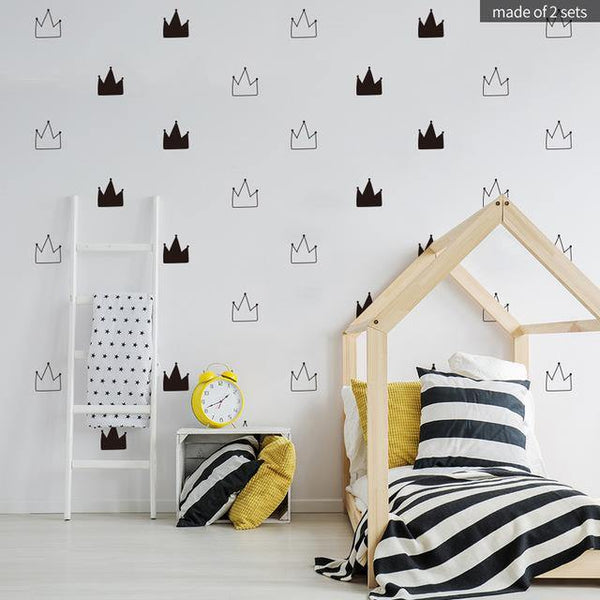 Crowns Nordic Style Decal - Our Baby Nursery