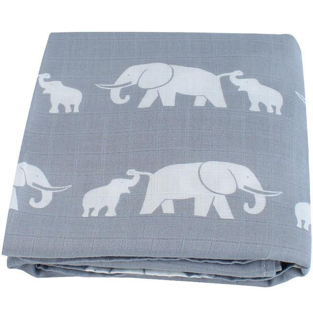 Elephant Muslin Swaddle - Our Baby Nursery