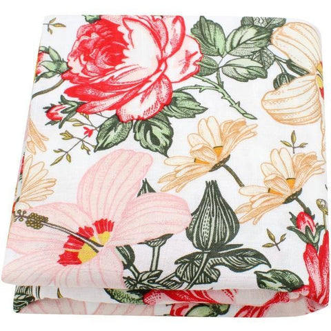 Floral Muslin Swaddle - Our Baby Nursery