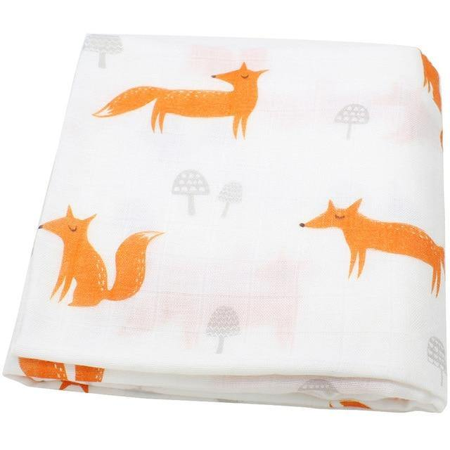 Fox Muslin Swaddle - Our Baby Nursery