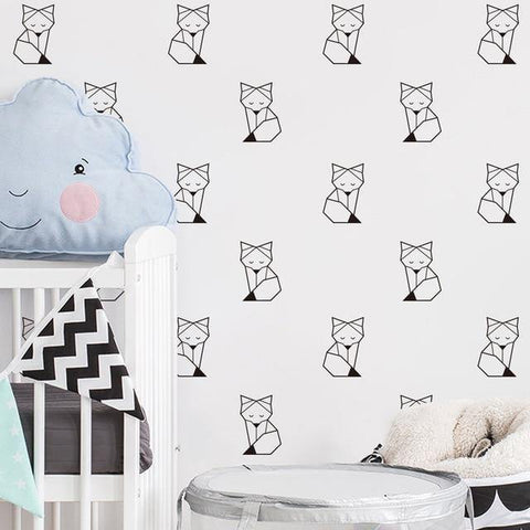 Foxes Nordic Style Decal - Our Baby Nursery