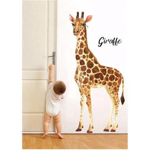 Giraffe Watercolour Decal - Our Baby Nursery