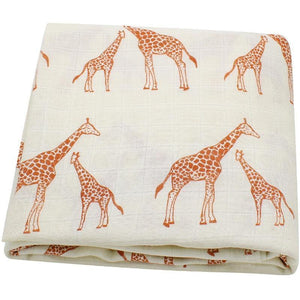 Giraffes Muslin Swaddle - Our Baby Nursery