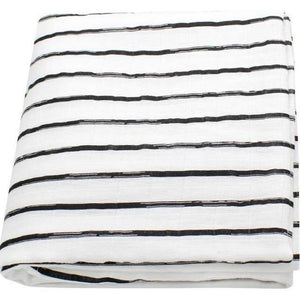 Grey Stripe Muslin Swaddle - Our Baby Nursery