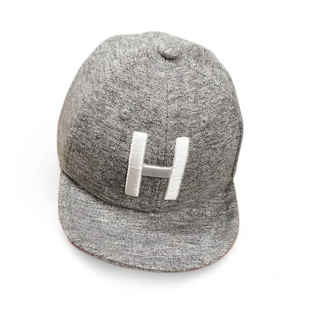 H Letter Kids Baseball Cap (Grey) - Our Baby Nursery