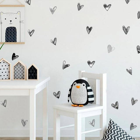 Hearts Nordic Style Decal - Our Baby Nursery