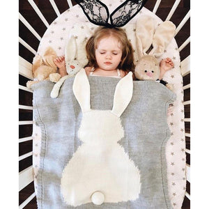 Knitted Animal Blanket - Our Baby Nursery