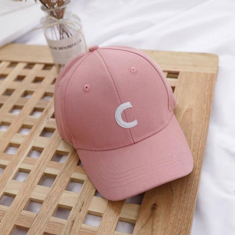 Letter C - Kids Baseball Cap (Light Pink) - Our Baby Nursery