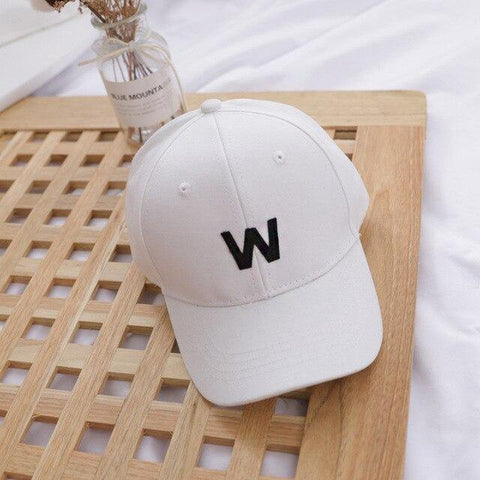 Letter W - Kids Baseball Cap (White) - Our Baby Nursery