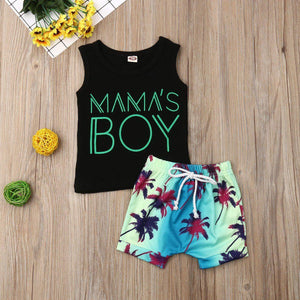 Mama's Boy Tank Top + Shorts - Our Baby Nursery