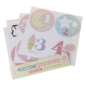 Milestone Card Stickers - Our Baby Nursery