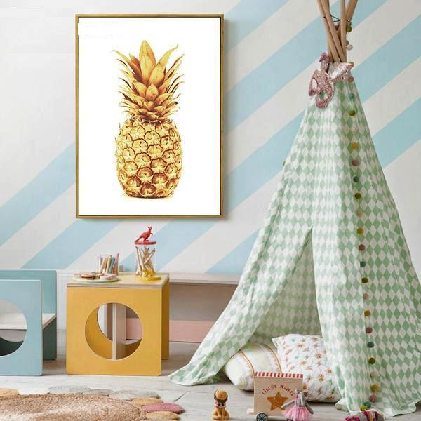 Motivational Quote + Pineapple - Wall Art - Our Baby Nursery