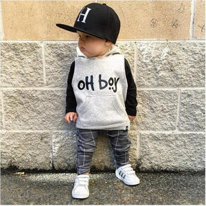 Oh Boy Long Sleeve Sweater + Pants (2pc Set) - Our Baby Nursery