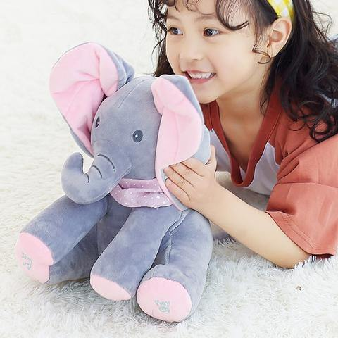 Peek-a-boo Singing Elephant Plush Toy - Our Baby Nursery