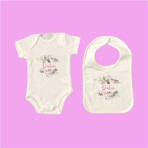 Personalised Baby Onesie & Bib Set -