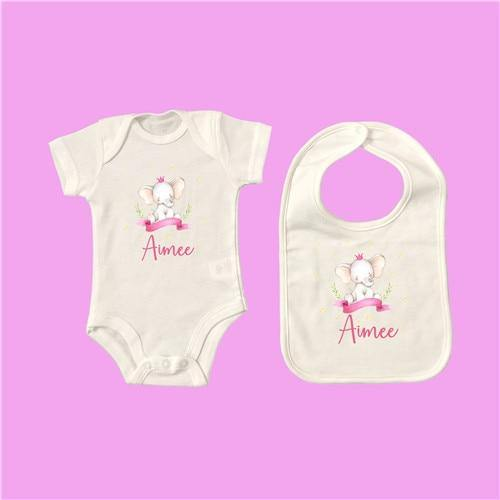 Personalised Baby Onesie & Bib Set - 6 18M