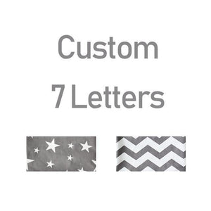 Personalised Letter Pillows / Bed Bumpers - Our Baby Nursery
