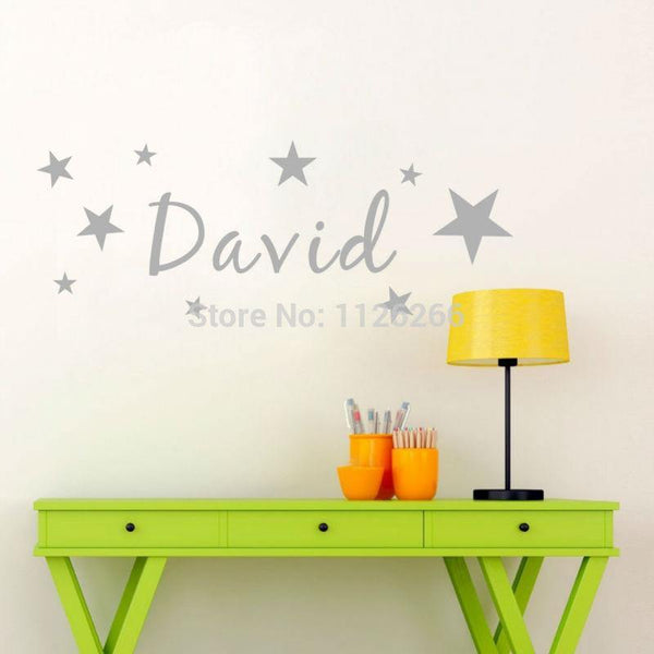 Personalised Name and Stars - Wall Decal - Our Baby Nursery