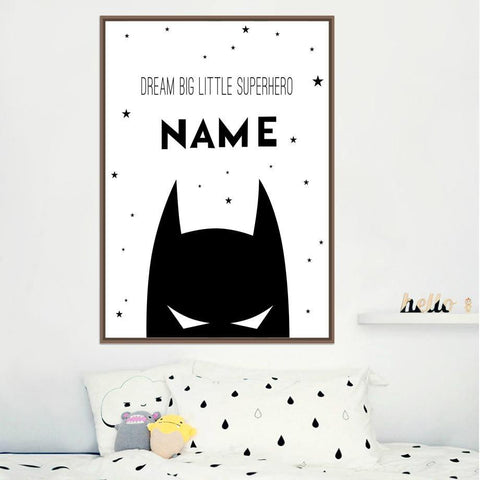 Personalised Name Batman Print - Our Baby Nursery