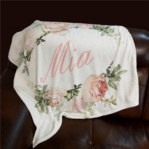 Personalised Name Blanket - Our Baby Nursery