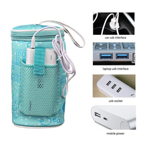 Portable USB Baby Bottle Warmer Bag - Our Baby Nursery