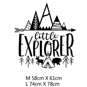 Little Explorer Decal - Our Baby Nursery