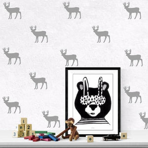 Reindeers Nordic Style Decal - Our Baby Nursery