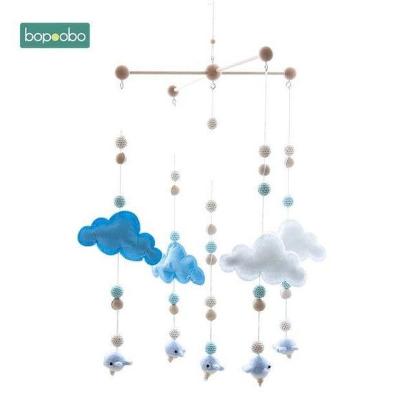 Silicone Beads & Beech Wood - Baby Mobile - Our Baby Nursery