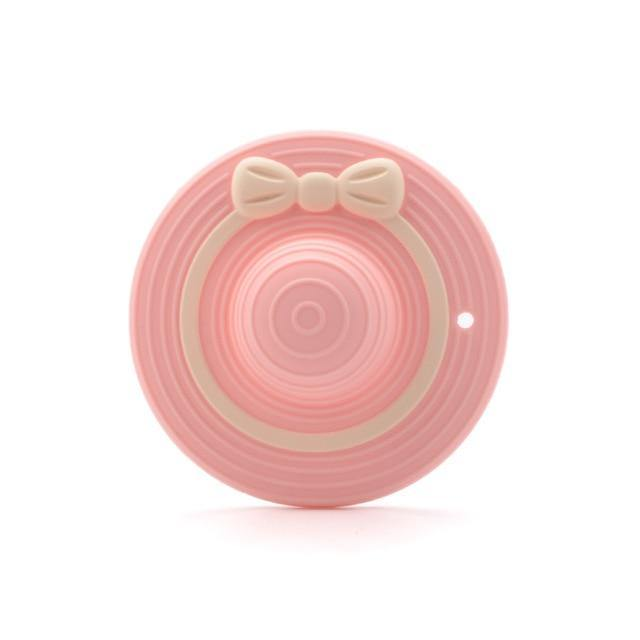 Silicone Teether - Hat (Pink) - Our Baby Nursery