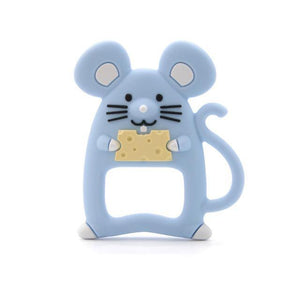 Silicone Teether - Mouse (Blue) - Our Baby Nursery