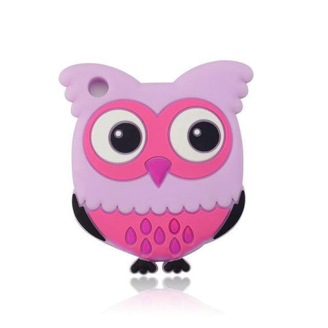 Silicone Teether - Owl (Pink) - Our Baby Nursery