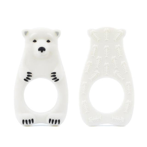Silicone Teether - Polar Bear - Our Baby Nursery