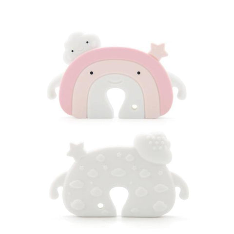 Silicone Teether - Rainbow (Pink) - Our Baby Nursery