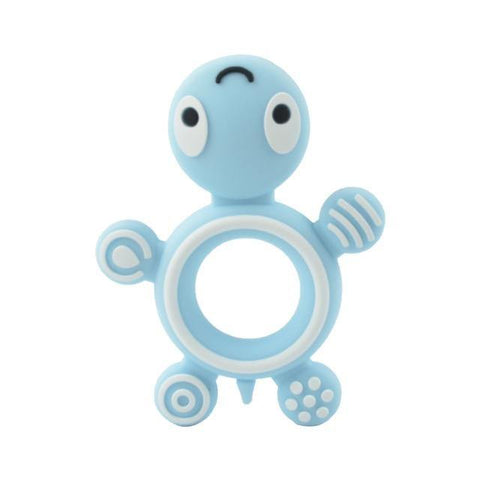 Silicone Teether - Turtle (Blue) - Our Baby Nursery