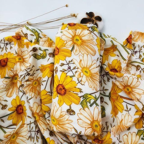 Sunflowers Muslin Swaddle - Our Baby Nursery