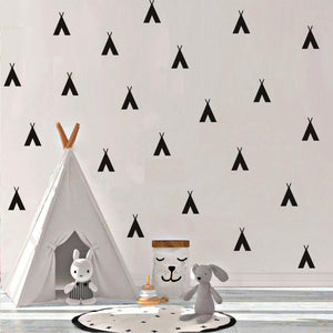 Teepees Nordic Style Decal - Our Baby Nursery