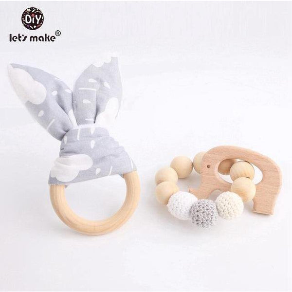 Teething Wooden Bracelets 2pc set - Our Baby Nursery
