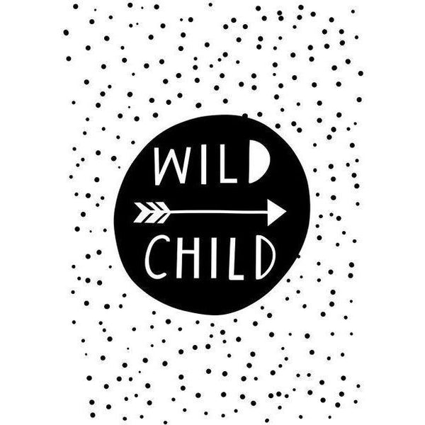 Wild Child, Tent & Arrows - Wall Art - Our Baby Nursery