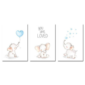 You Are Loved Elephant Wall Art - Our Baby Nursery