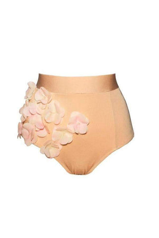 Audrey Gold Bloom highwaisted bikini bottom - High waisted bikini by Keosme. Shop on yesUndress