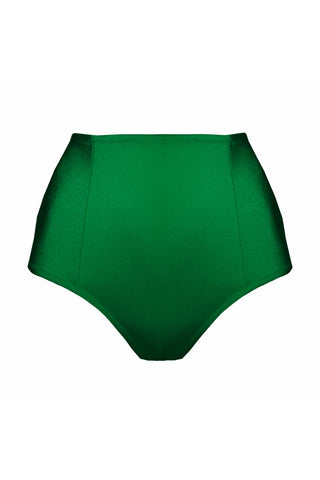 Lina green high waisted bikini bottom