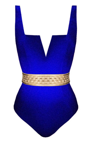 Dominata Bersèra blue swimsuit - One Piece swimsuit by Keosme. Shop on yesUndress
