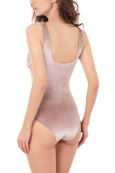 Designer swimsuit, bodysuit, piecework, exclusive, velvet, V-neck, pink, one-piece, bright, velor, Keosme, smooth, slimming, strict, velvet, comfortable, textured, tank, monokini, foamless cups, wide straps, briefs back, briefs